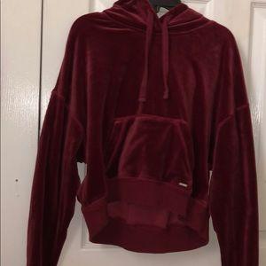 red velvet cropped jacket